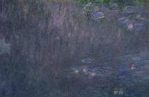 Seerosen: Reflexionen von Bäumen, Detail aus der linken Seite von Claude Monet
