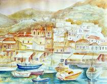Im Hafen von Hydra ( Griechenland ) by Irina Usova