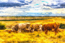 The Friendly Cows Art by David Pyatt