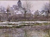 Die Kirche bei Vetheuil unter dem Schnee by Claude Monet