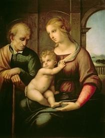 Die Heilige Familie by Raffaello Sanzio of Urbino