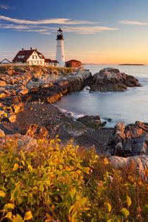 Portland Head Lighthouse, Maine, USA at sunrise von Sara Winter