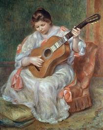 Der Gitarrenspieler von Pierre-Auguste Renoir