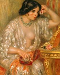 Gabrielle mit Schmuck von Pierre-Auguste Renoir