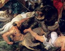 Nilpferd- und Krokodiljagd von Peter Paul Rubens