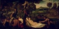 Pardo Venus oder Jupiter und Antiope  by Tiziano Vecellio