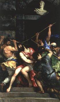 Die Dornenkrönung by Tiziano Vecellio