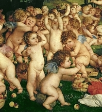 Die Anbetung der Venus by Tiziano Vecellio