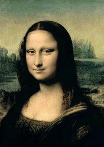 Detail der Mona Lisa by Leonardo Da Vinci