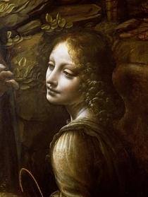 Detail der Engel, von der Madonna in der Felsengrotte  von Leonardo Da Vinci