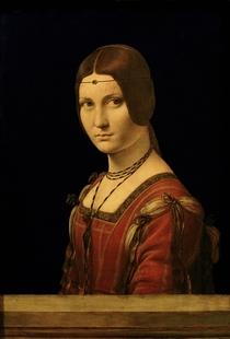 Portrait einer Dame vor dem Gericht von Mailand by Leonardo Da Vinci