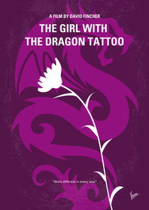 No528 My The Girl with the Dragon Tattoo minimal movie poster by chungkong