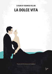 No529 My La dolce vita minimal movie poster von chungkong