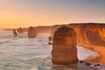 Twelve Apostles on the Great Ocean Road, Australia at sunset by Sara Winter