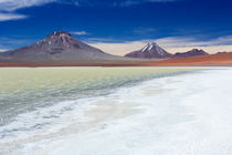 Desert lake Laguna Lejia, Altiplano, Chile on a sunny day von Sara Winter