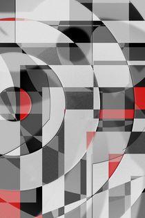 schwarz weiß trifft rot Version 2 by Christine Bässler