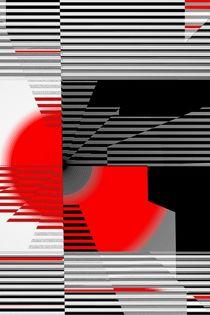 schwarz weiß trifft rot Version 4 by Christine Bässler