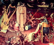 The Garden of Earthly Delights: Hell, detail from the right wing by Hieronymus Bosch