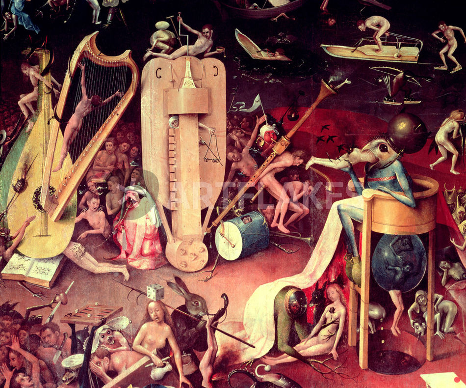 The Garden of Earthly Delights Hell detail from the right wing