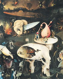 The Garden of Earthly Delights: Hell, right wing of triptych, c. von Hieronymus Bosch