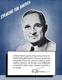President Truman -- Speaking For America von warishellstore