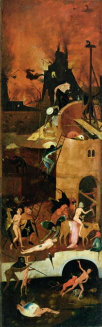 The Haywain: right wing of the triptych depicting Hell von Hieronymus Bosch