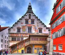 Das alte Rathaus von Lindau am Bodensee im Süden Deutschlands von Gina Koch