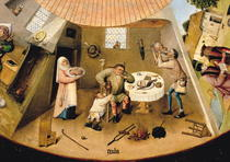 Gluttony, detail from the Table of the Seven Deadly Sins and the by Hieronymus Bosch