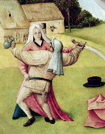 Anger, detail from `The Table of the Seven Deadly Sins and the F von Hieronymus Bosch