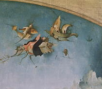 Detail of the left-hand panel by Hieronymus Bosch