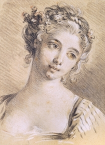 Head of a Young Girl  von Francois Boucher