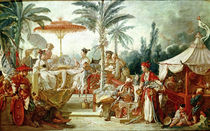 Feast of the Chinese Emperor, study for a tapestry cartoon by Francois Boucher