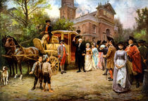 George Washington Arriving At Christ Church von warishellstore
