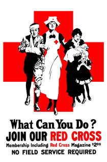 What Can You Do? Red Cross WW1 von warishellstore