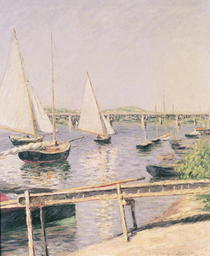 Sailing boats at Argenteuil von Gustave Caillebotte