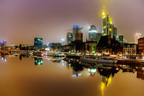 Frankfurt am Main bei Nacht von Sandro Mischuda