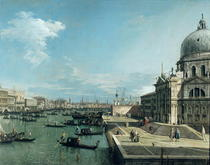 The Entrance to the Grand Canal and the church of Santa Maria de by Giovanni Antonio Canal Canaletto