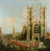 Procession of the Knights of the Bath by Giovanni Antonio Canal Canaletto
