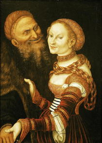 The Courtesan and the Old Man by Lucas Cranach the Elder