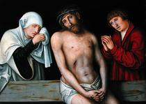Christ as the Man of Sorrows with the Virgin and St. John  by Lucas Cranach the Elder