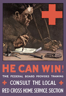 He Can Win! WWI Red Cross  von warishellstore