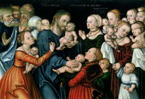 Suffer the Little Children to Come Unto Me von Lucas Cranach the Elder