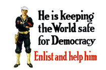 He Is Keeping The World Safe For Democracy - WWI von warishellstore