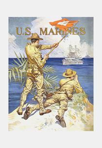 US Marines Poster - World War 1 von warishellstore