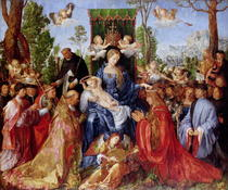 The Festival of the Rosary von Albrecht Dürer