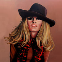 Brigitte Bardot painting by Paul Meijering