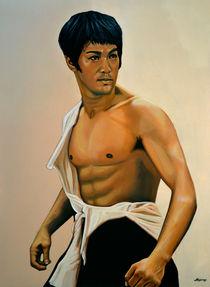 Bruce Lee painting by Paul Meijering