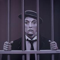 Buster Keaton painting by Paul Meijering