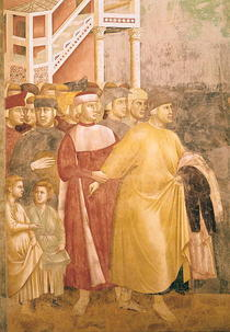 St. Francis Renounces all Worldly Goods, detail of Pietro di Ber by Giotto di Bondone
