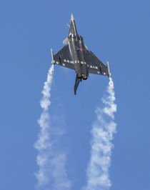 Rafale jet fighter aircraft climbing in afterburner by Chris Warham
